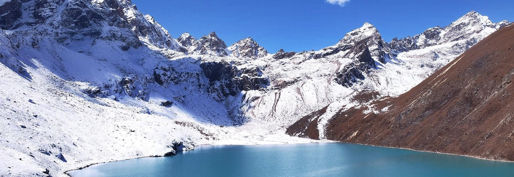 Gokyo Lake located at an altitude of 4,700–5,000 M